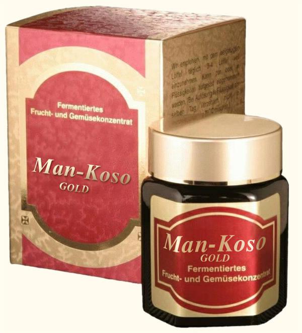 Man Koso Gold im Glas