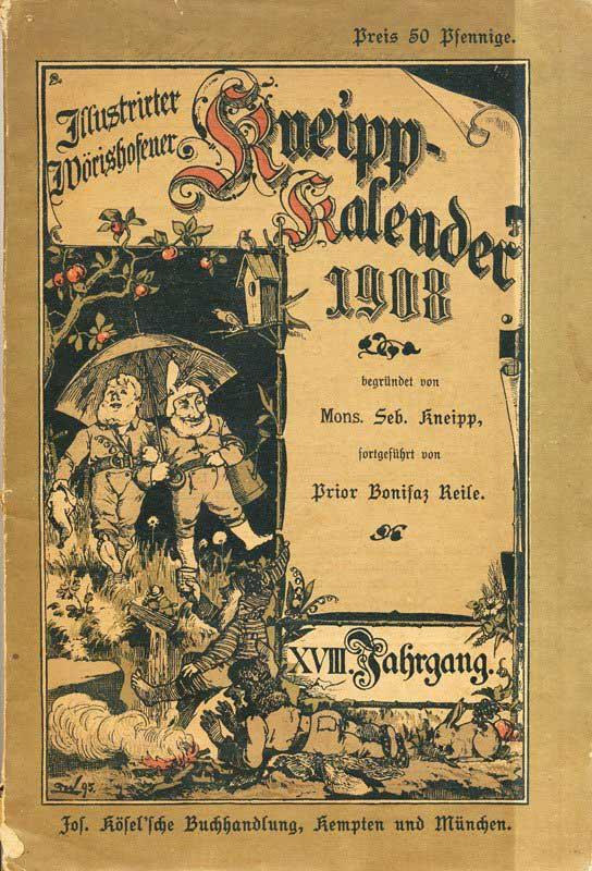 Illustrierter Wörishofener Kneipp-Kalender von 1908 (Verlag Kösel Kempten)